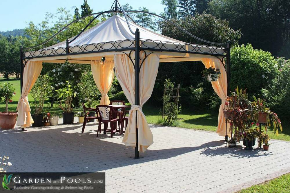 pavillon rechteckig partyzelt metallpavillon gartenlaube gazebo 3x3m nach ma ebay. Black Bedroom Furniture Sets. Home Design Ideas