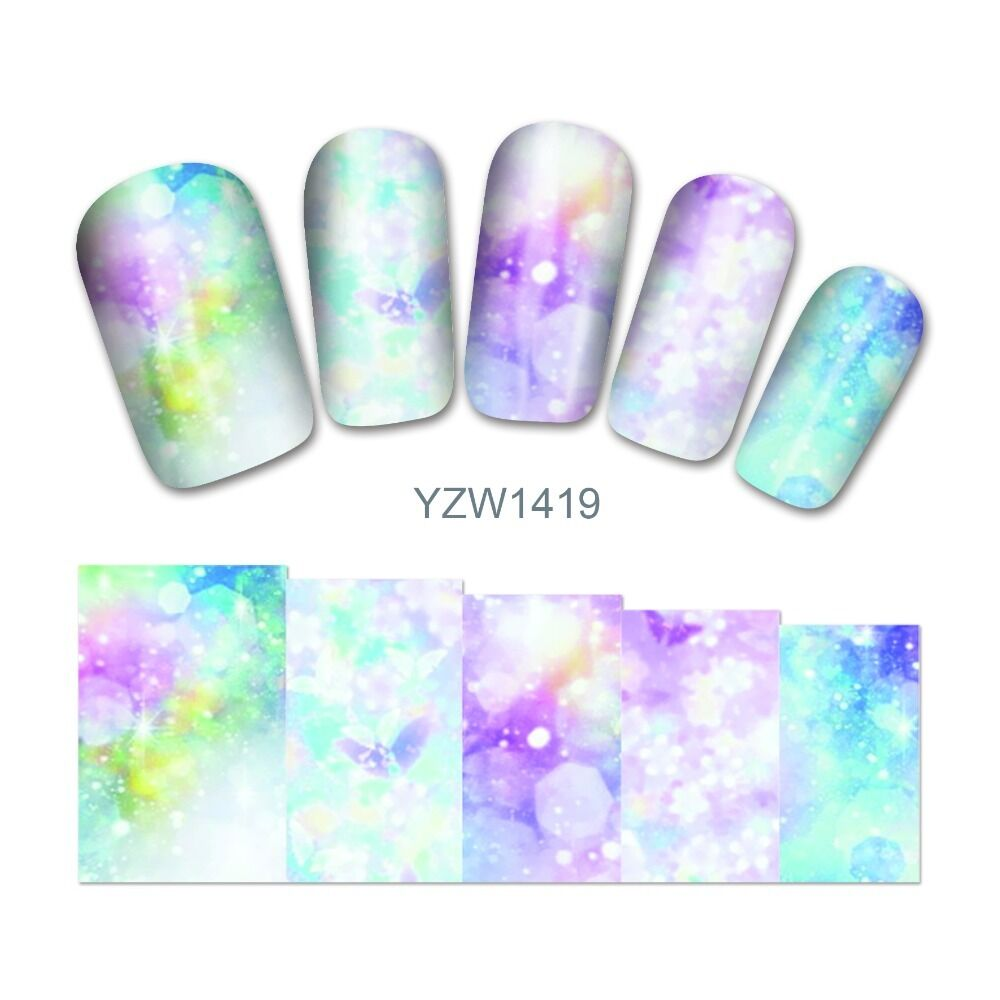 Nail Polish Has Bubbles: Nail Art Water Decals Stickers Wraps Pretty Rainbow