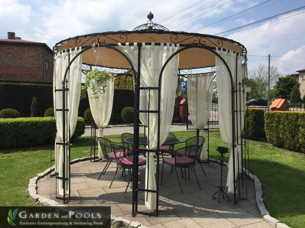 metallpavillion pavillon holland 3 80m nach ma gartenlaube gazebo pavillion ebay. Black Bedroom Furniture Sets. Home Design Ideas