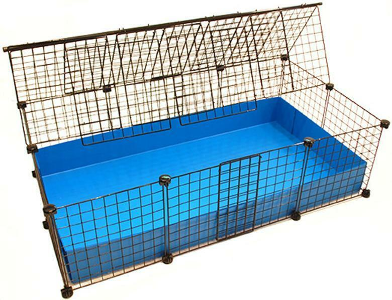 New 2x3 5 grid covered c c cube coroplast guinea pig for Guinea pig cage for 3
