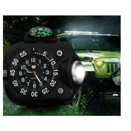 img-Emergency Survival Outdoor LED Torch Compass Watch Adventure Camping Army Tool