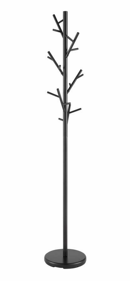 Modern black metal multiple hall tree branches hooks coat for Ikea coat and hat rack