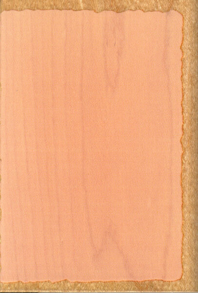 DECKLE EDGE RECTANGLE RUBBER STAMPEDE WOOD BACKED RUBBER STAMP