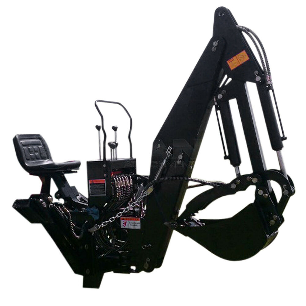 7 Ft 3 Point Backhoe With Thumb Excavator Attachments