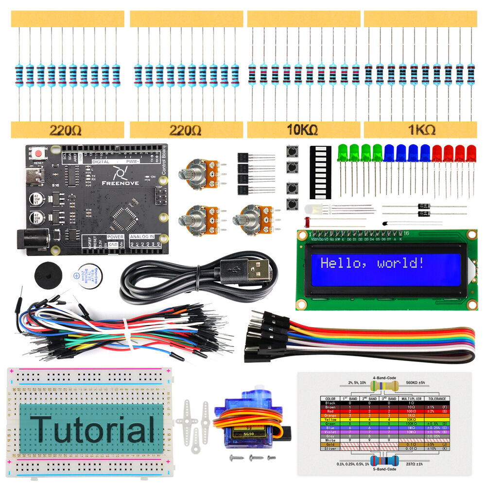 Freenove lcd starter kit for arduino beginner uno r