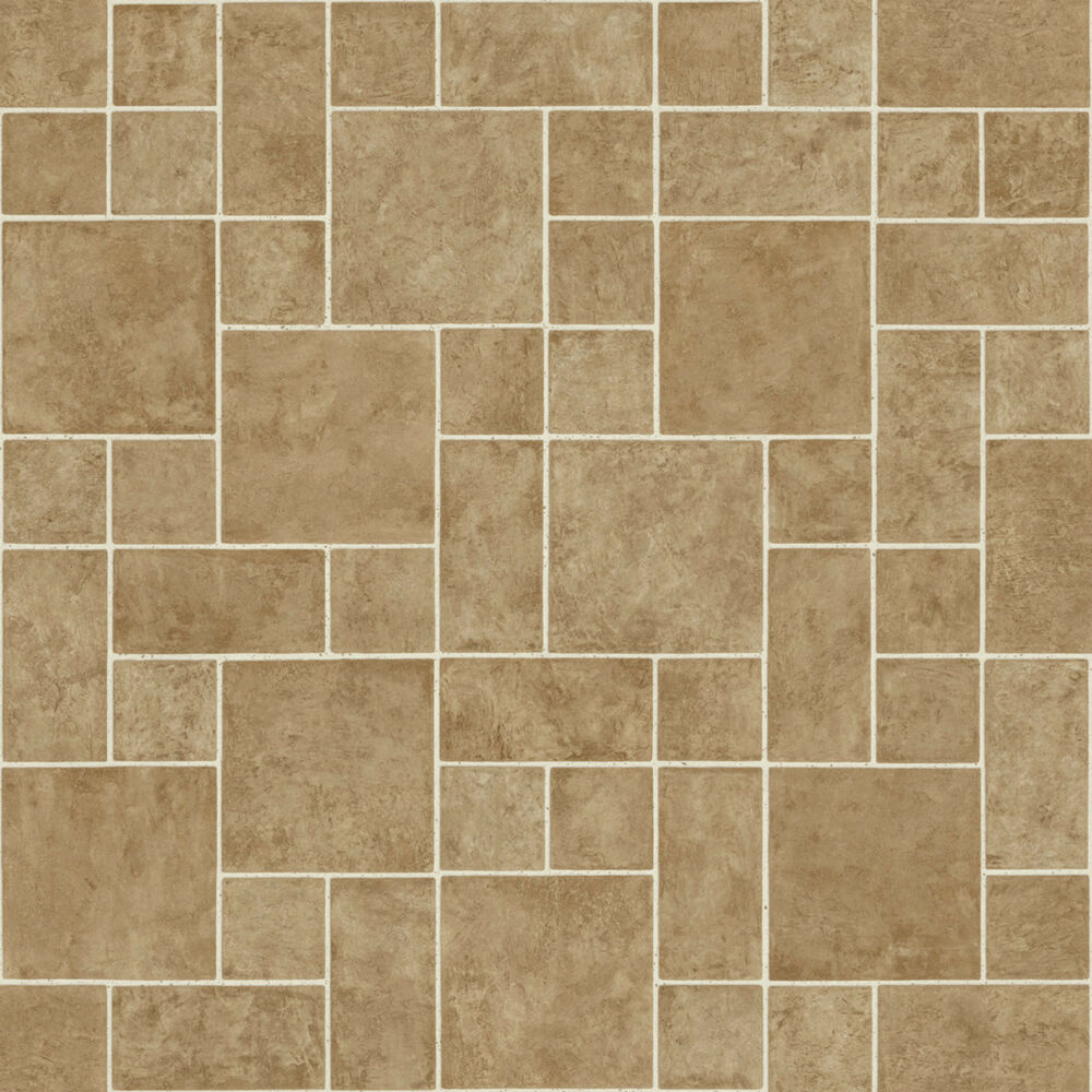 Beige random slate non slip vinyl flooring cushion floor for Vinyl cushion flooring for kitchens