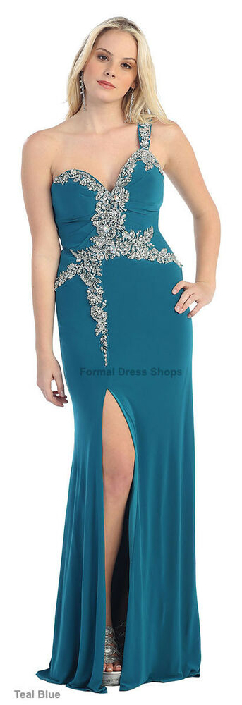 CLEARANCE SALE ! EVENING FORMAL STRETCH GOWN PAGEANT SEXY ...