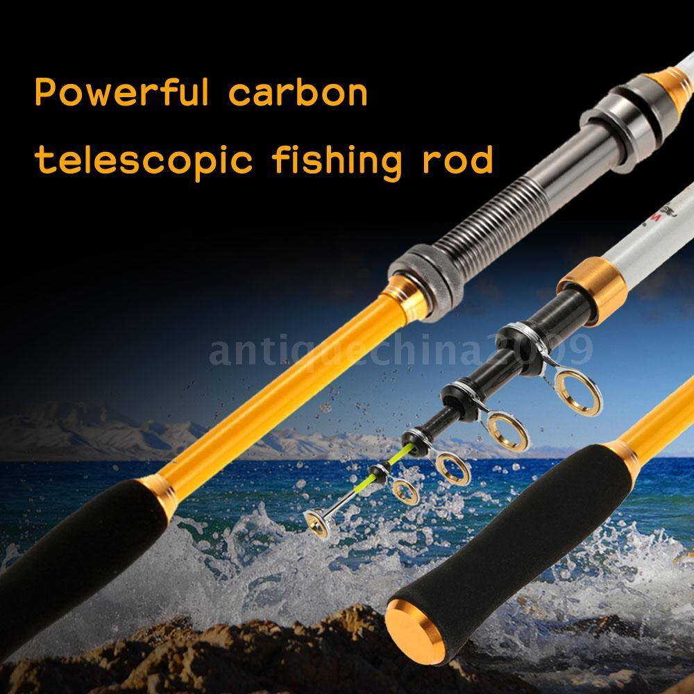 New 1 8m 3 6m telescopic carbon fiber fishing rod travel for Ebay fishing poles