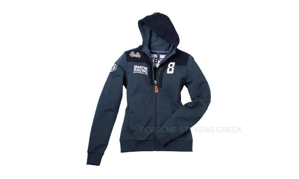 porsche martini racing women 39 s hooded jacket xs s m l xl. Black Bedroom Furniture Sets. Home Design Ideas