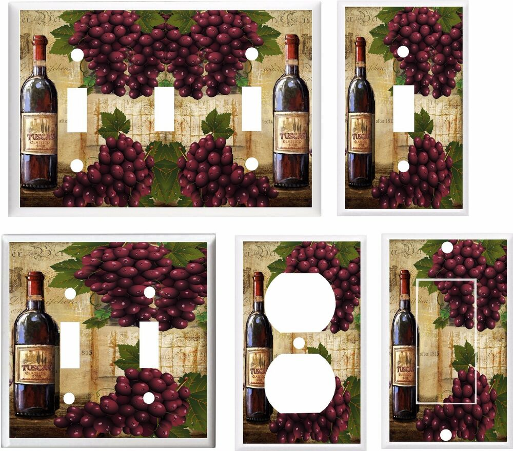 Wine Themed Home Decor: WINE AND GRAPE PURPLE GRAPES WINE BOTTLE # 11 LIGHT SWITCH