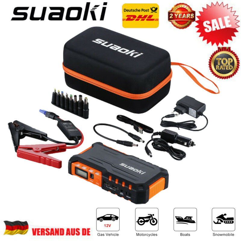 18000mah 600a auto jump starter starthilfeger t batterieladeger t schnellstart ebay. Black Bedroom Furniture Sets. Home Design Ideas