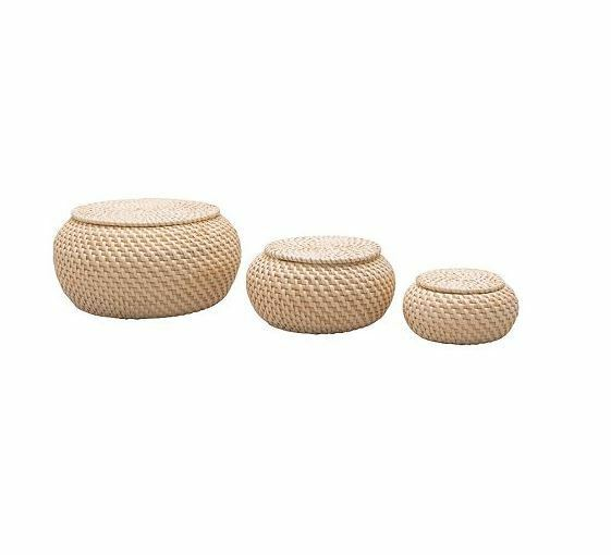 ikea fryken korb mit deckel 3er set rattan. Black Bedroom Furniture Sets. Home Design Ideas