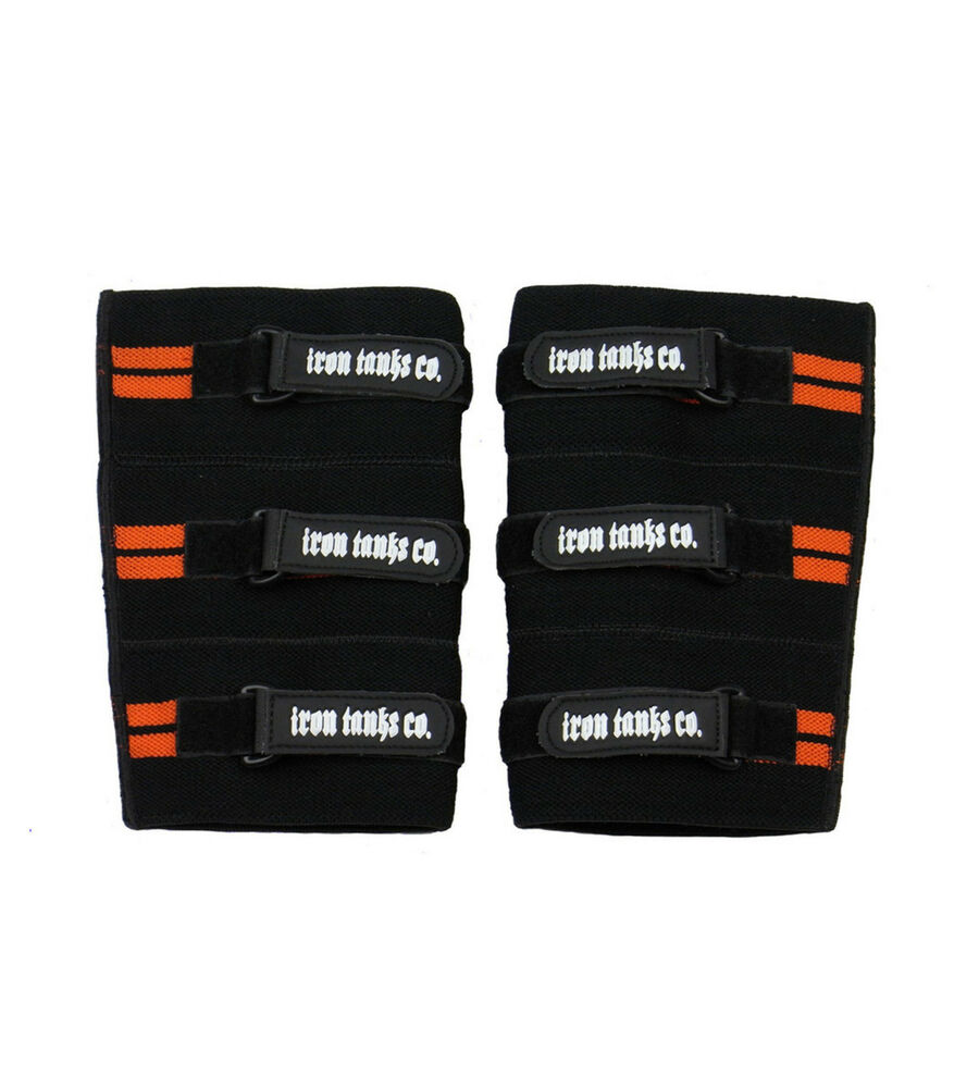 SUPER HEAVY KNEE SLEEVES WRAPS STRAPS GYM WEIGHT POWER ...