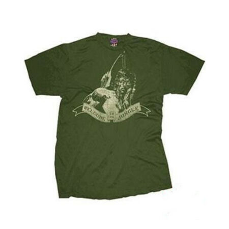 img-NEW OFFICIAL RAMBO WELCOME TO THE JUNGLE MOVIE MENS RETRO GREEN TEE T SHIRT