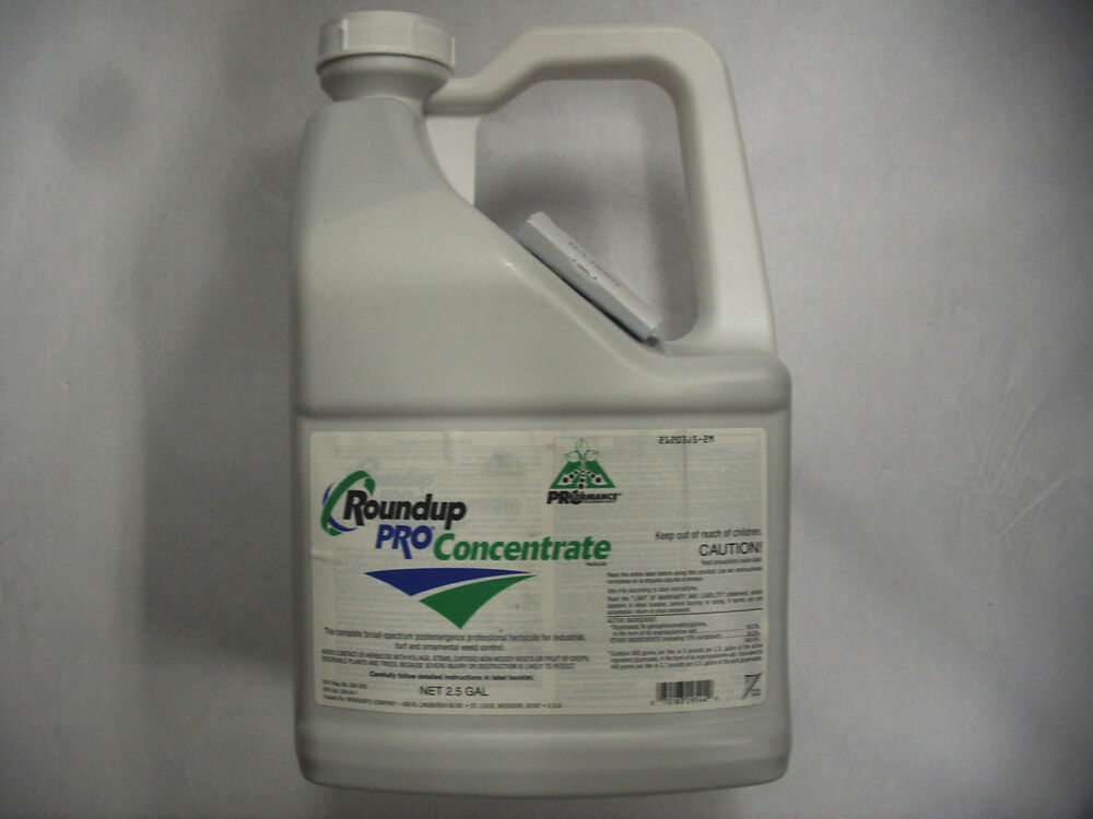 50 2 glyphosate 2 5 gallon roundup pro concentrate great weed killer ebay. Black Bedroom Furniture Sets. Home Design Ideas