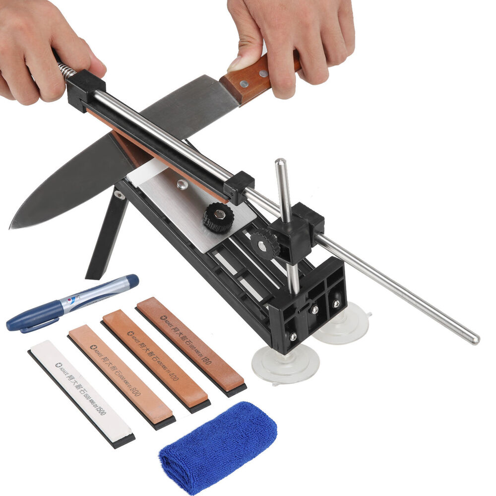 where to get kitchen knives sharpened professional kitchen sharpening knife sharpener system fix angle with 4 stones ebay 6418