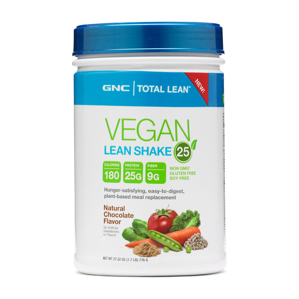 Gnc total lean vegan lean shake 25 natural chocolate 1 7 lb ebay
