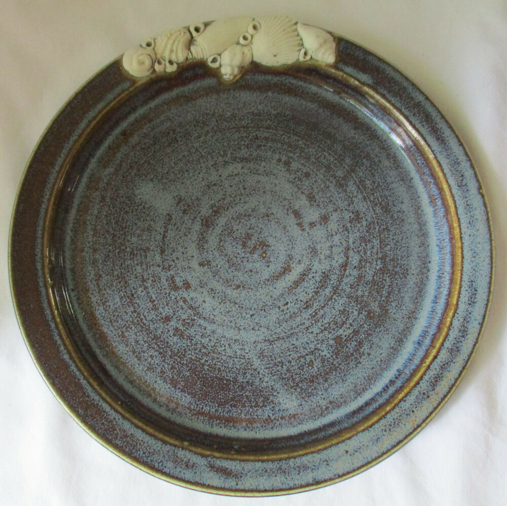Gail Turner Mill Stone Pottery Cape Cod Ma Plate With