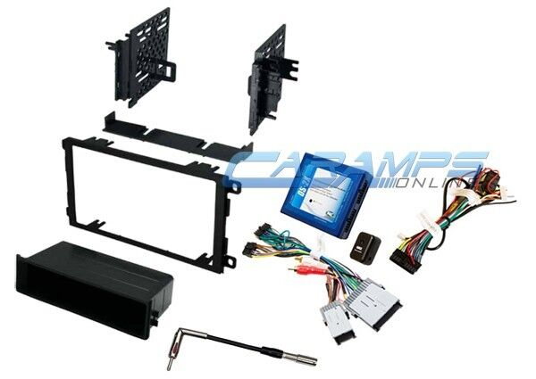 single din car stereo radio dash kit with bose onstar interface wire harness ebay