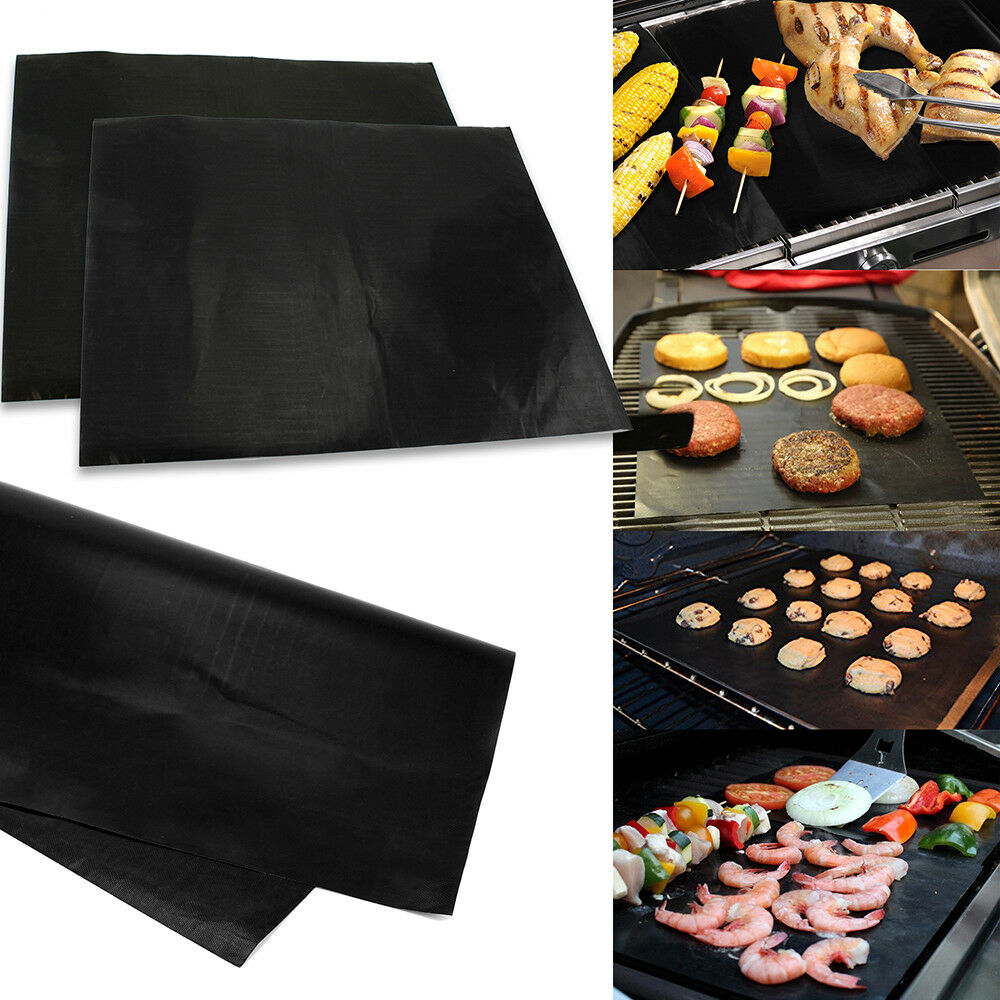 Lot Of 2 Mats Easy BBQ Grill Mat Bake NonStick Grilling