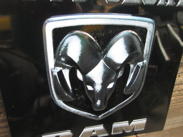 Man Cave Trucks For Sale : Dodge ram truck head metal display emblem vintage look