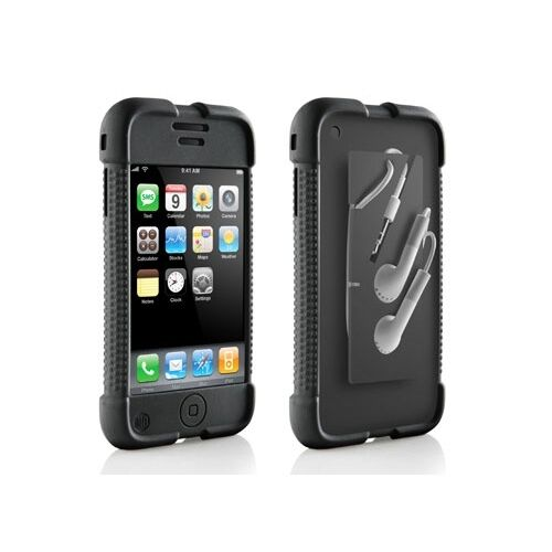 1st generation iphone dlo jam jacket silicone skin cover black for iphone 1423