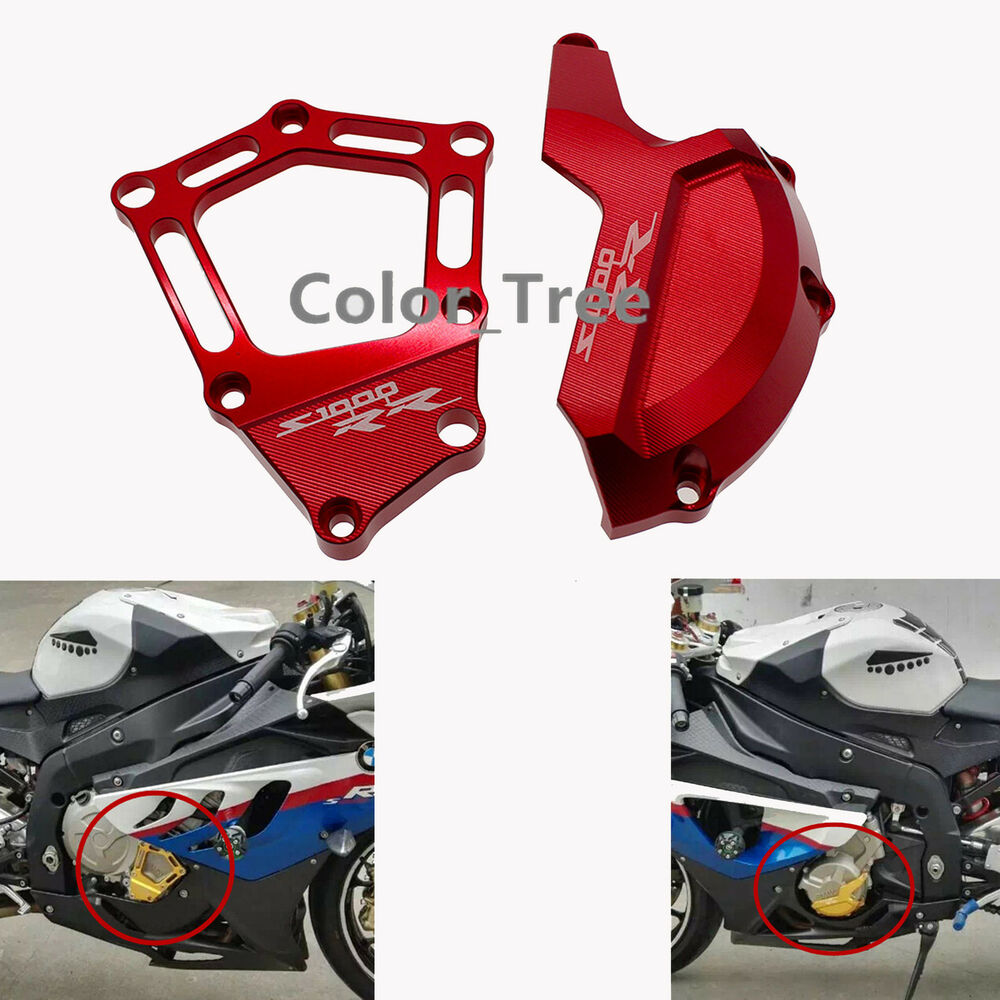 Red Engine Case Stator Cover Guard Sliders Protector Fit
