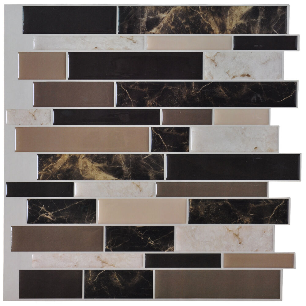 12 X 12 Kitchen Backsplash Stiker Peel And Stick Tile Marble Design Ebay