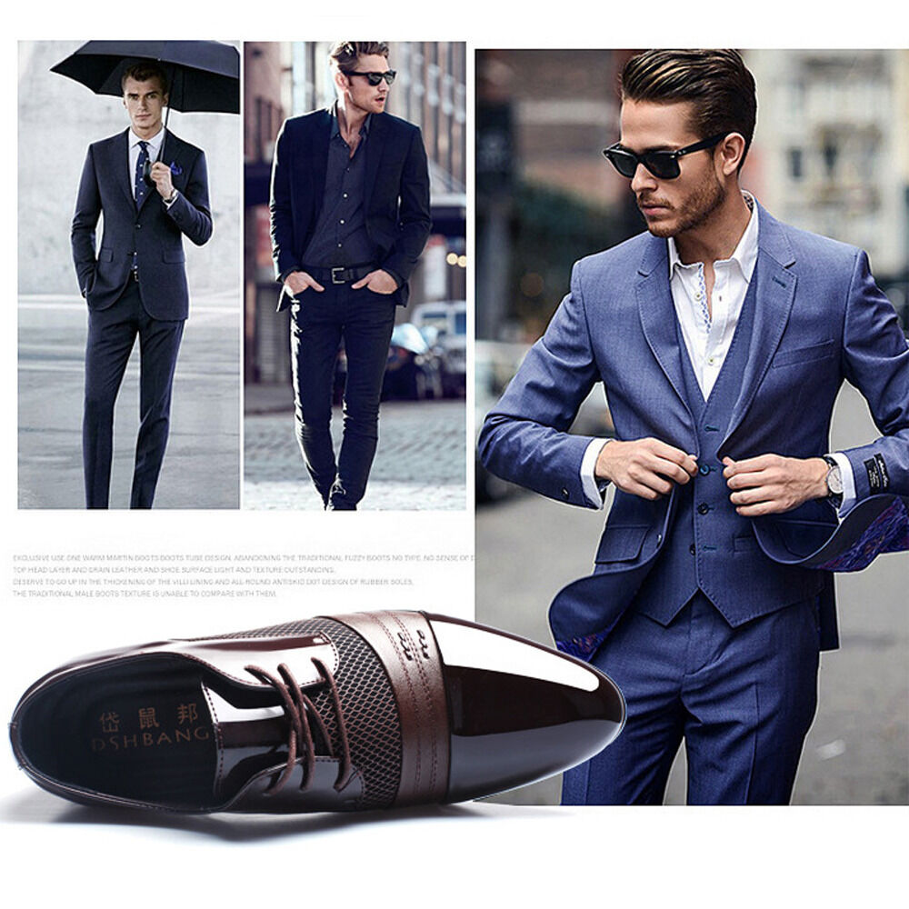 Mens New Dress Formal Oxfords Leather Shoes Business Dress Fashion