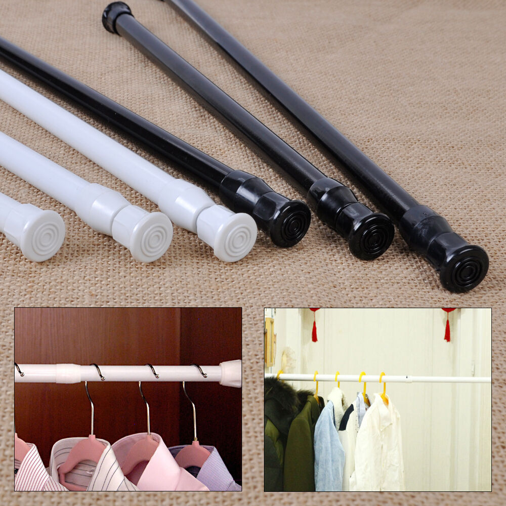 New Extendable Adjustable Spring Tension Rod Pole Curtain