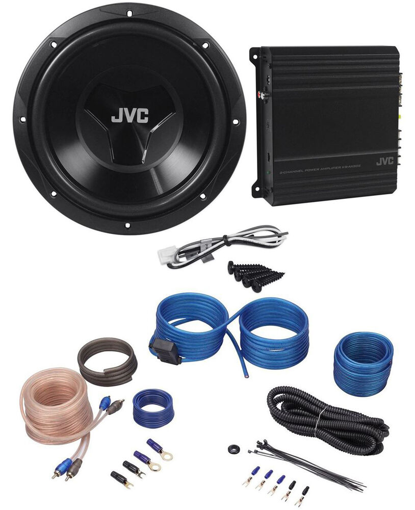 jvc cs pk202 sub amp combo 12 1000 watt car subwoofer. Black Bedroom Furniture Sets. Home Design Ideas