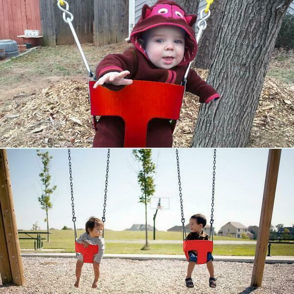 Safety Child Swingset Playground Backyard Park High Back
