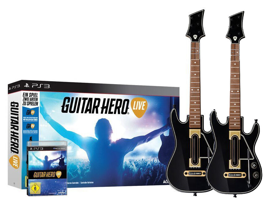 guitar hero live inkl 2x gitarre f r playstation 3 ps3. Black Bedroom Furniture Sets. Home Design Ideas