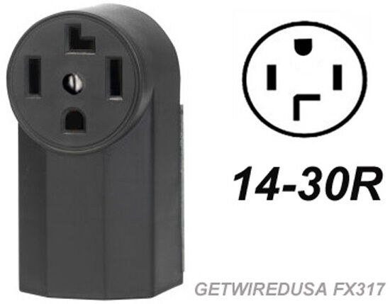 Dryer Electric Wall Outlet Female 14 30r 4 Prong Plug In