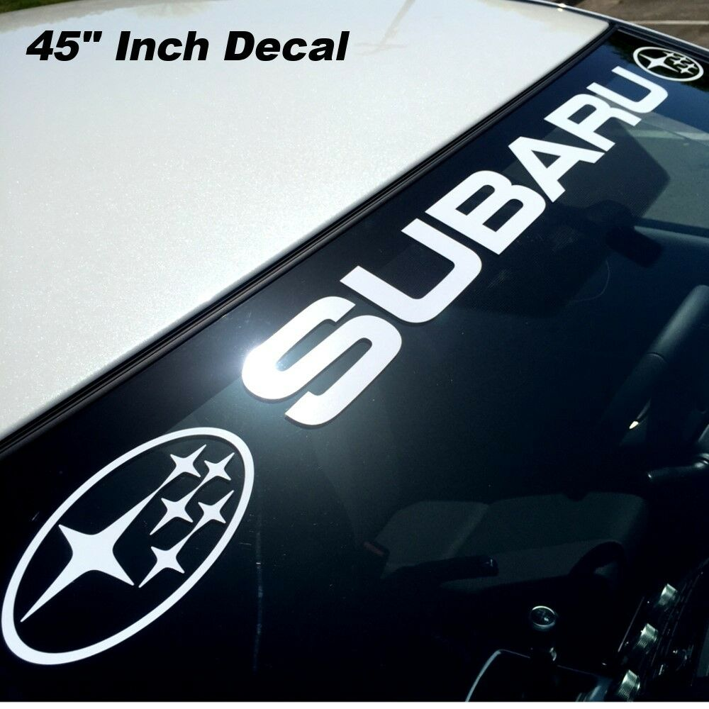 Subaru Rally Windshield Banner Graphic Decal Sticker Wrx