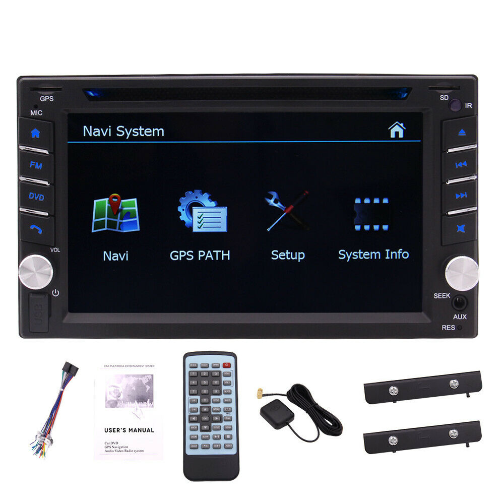 "7"" HD Touch Screen Double 2 DIN Car GPS Stereo DVD Player"