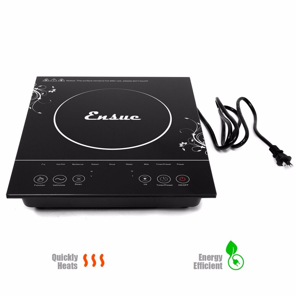 Heating Induction Cook Tops ~ Electric induction cooktop portable single burner heat
