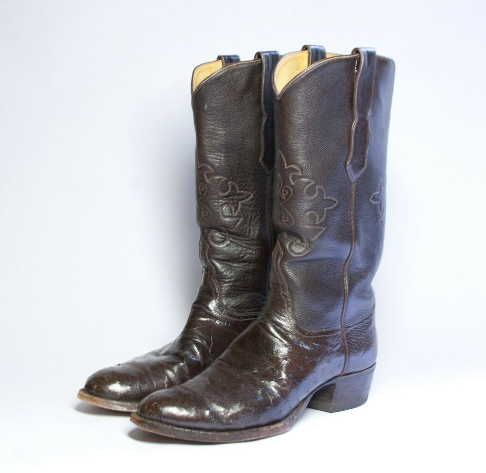 tom custom s ostrich leather cowboy boots