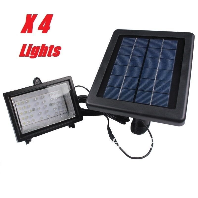Commercial Outdoor Lighting For Signs: 4 Pack Ultra Bright Bizlander 30LED Solar Flood Light