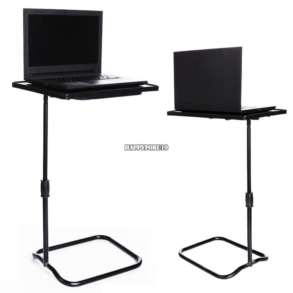 Height adjustable laptop desk swivel bedside table stand for How to make a bed stand