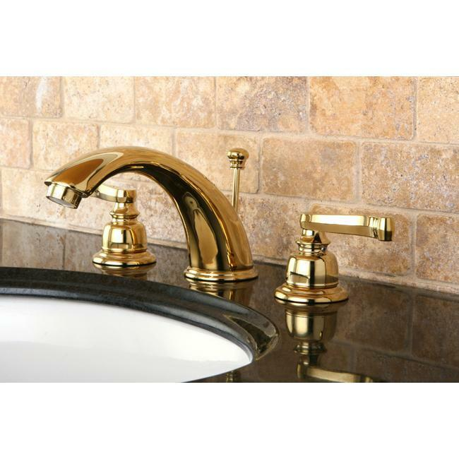 brushed brass bathroom fixtures handle polished brass widespread bathroom faucet ebay 17538