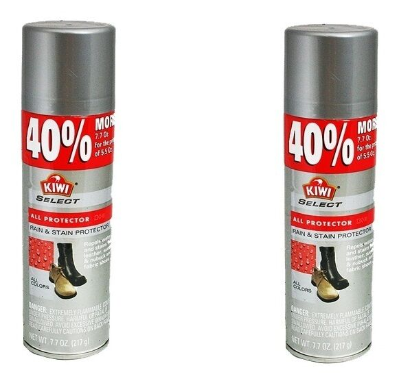 2x Kiwi All Protector Rain Amp Stain Spray Cleaner Leather