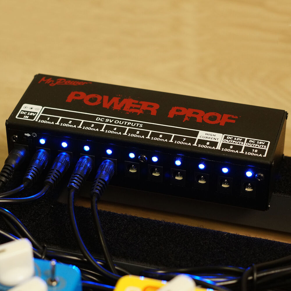 mr power guitar effect pedal power supply uk 10 dc output for 9v 12v 18v pedals ebay. Black Bedroom Furniture Sets. Home Design Ideas