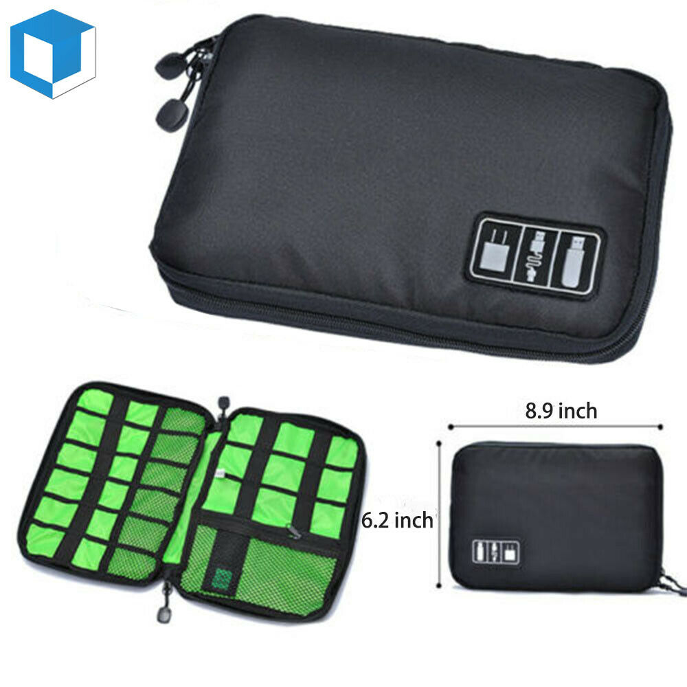 Cable Cord Organizer Drive Holder Case Storage Travel Bag