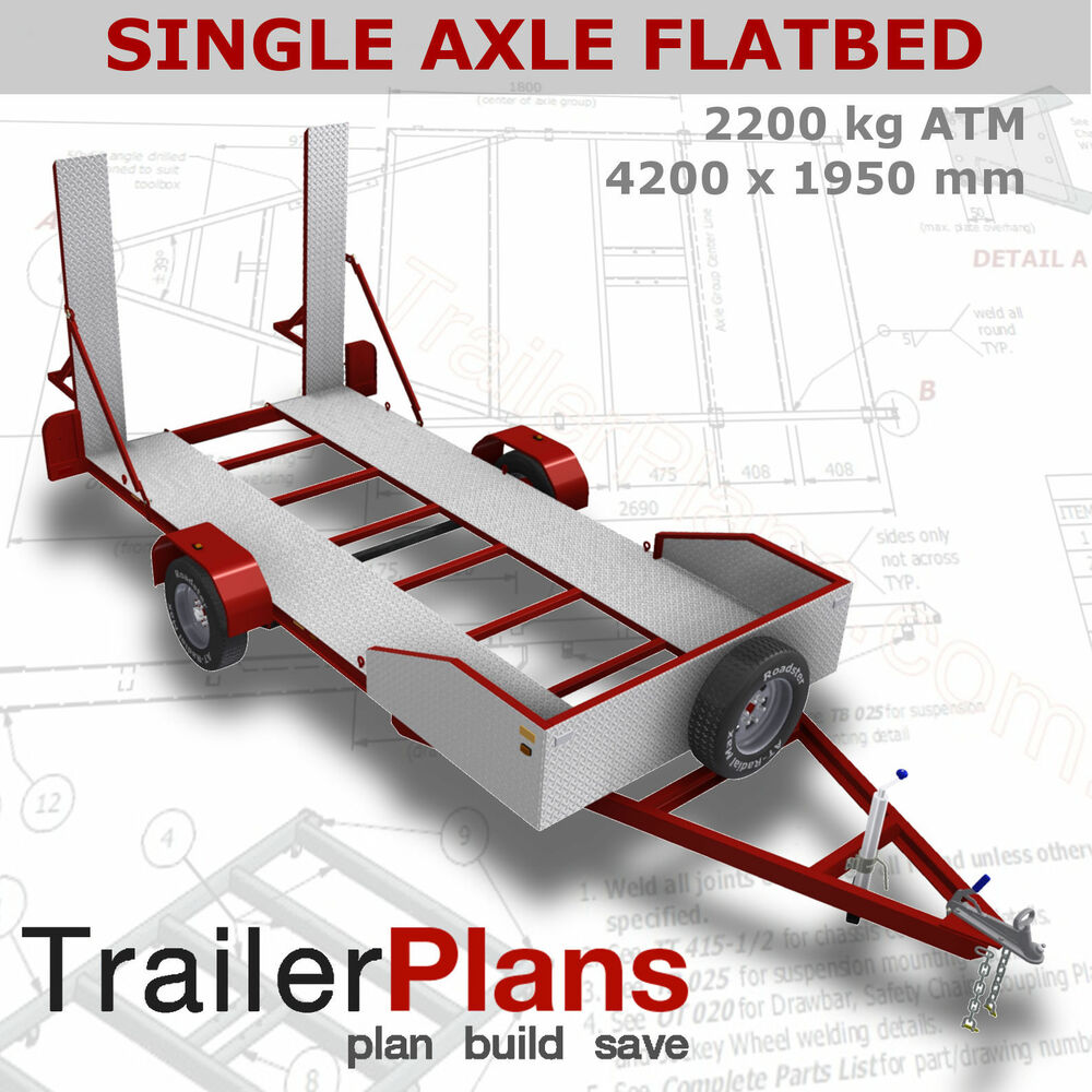 Single Axle Trailer Plans : Trailer plans kg single axle flatbed car