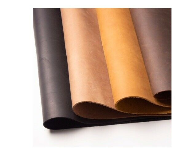 Leather material diy cowhide hide raw craft hobby genuine for Leather sheets for crafting