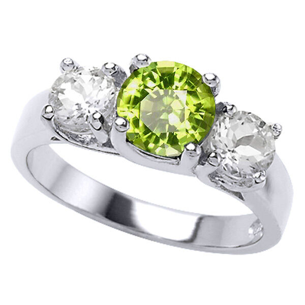 peridot wedding rings 2 26ct women s unique 14k white gold 3 peridot 6465
