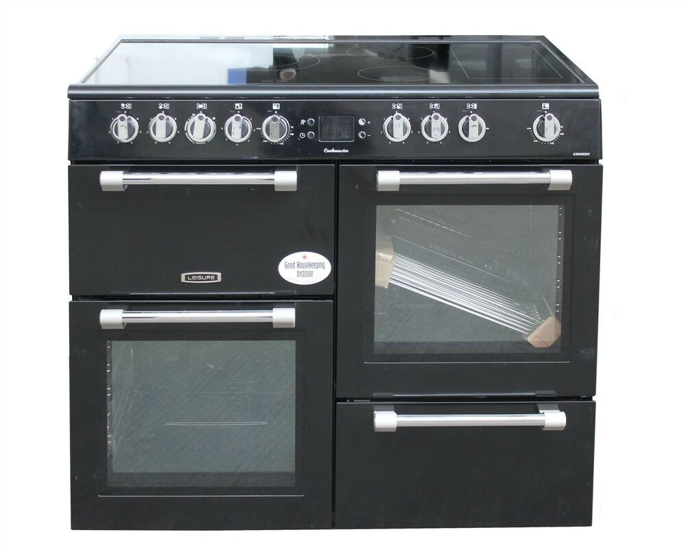 leisure electric range cooker 100cm ceramic hob double. Black Bedroom Furniture Sets. Home Design Ideas