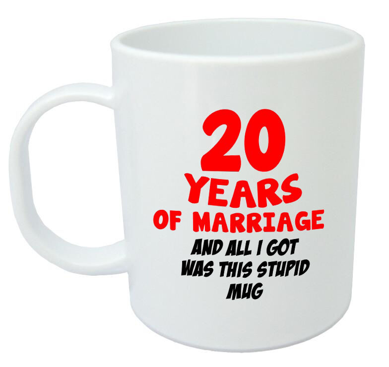 20 Years Of Marriage Mug 20th Wedding Anniversary Gifts For Women