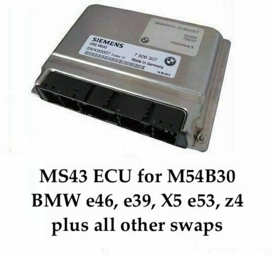Bmw Z3 Performance Chip: Chip Tuned ECU MS43 242hp 7000 Rpm +EWS Delete For BMW E46
